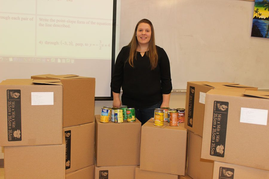 Madison+Williams+collected+16+boxes+of+food+for+Thanksgiving+and+is+now+continuing+her+donations+through+Operation+Happiness.