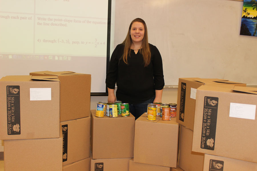 Madison Williams collected 16 boxes of food for Thanksgiving and is now continuing her donations through Operation Happiness.