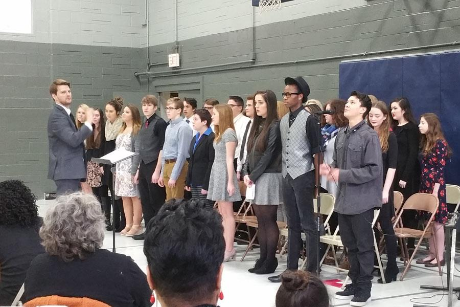 The GRC Choir performs at the MLK Jr. Breakfast.