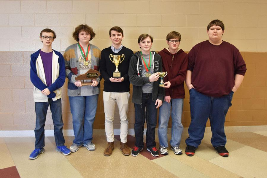 From left: Ben Myer 9th, Cameron Spicer 9th, Josh O' Bryan 9th, Hunter Mitchell 9th, Daniel Morris 11th, and Steven Flickinger 11th.
