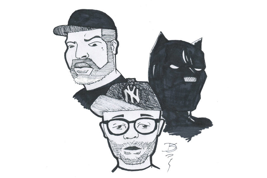 From left, Ice Cube, Spike Lee and Black Panther.
