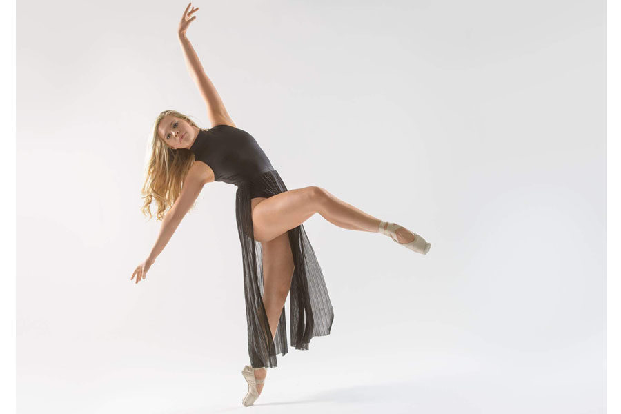 Makayla King shows off her moves during a photo shoot.