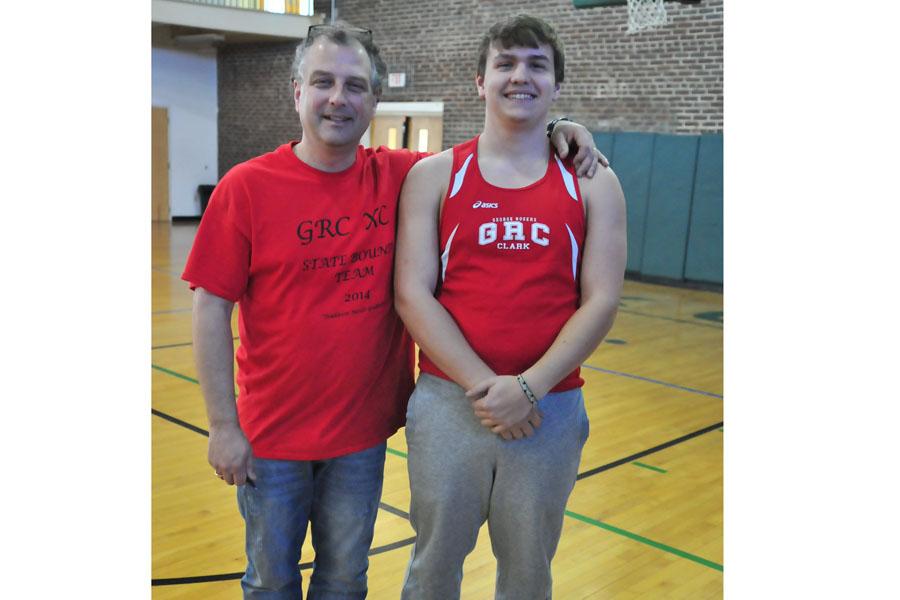 Dodd Dixon with son and former runner John Dixon.