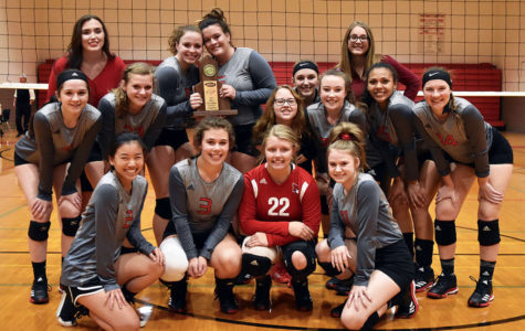 Volleyball Team Claims District Title Over Montgomery