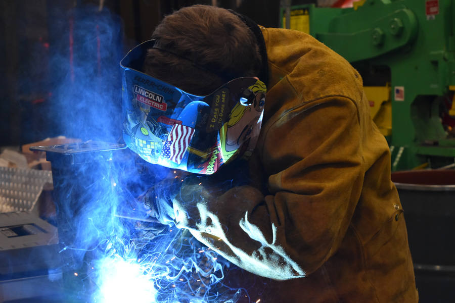 Austin Cartwright placed first at the Skills USA Welding Competition.