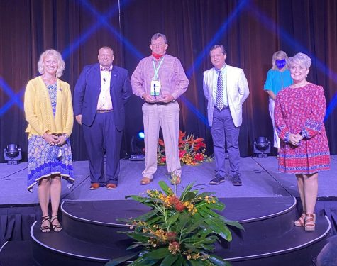 Principal David Bolen, center, was honored today as KASA Administrator of the Year
