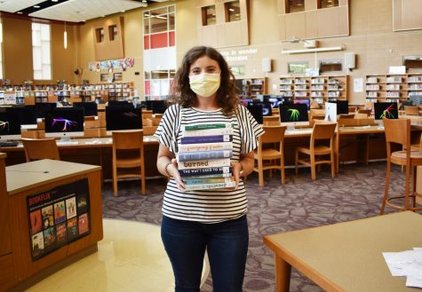 Mrs. Farmer, GRC librarian, has made adjustments during the shutdown to make sure books are still available to students