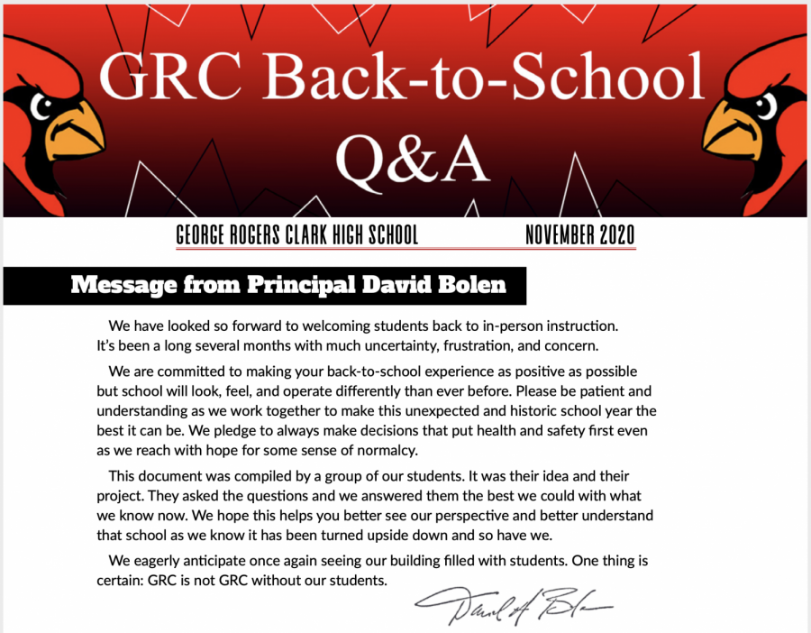 GRC Marketing students compile back-to-school Q&A newsletter