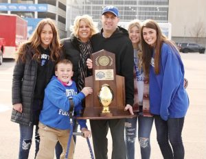 Joe Chirico and his wife of 26 years, Ashley, with their children, Sydney, Isabella, Presley and Brayden.