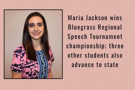 Maria Jackson wins Bluegrass Regional Speech Tournament championship