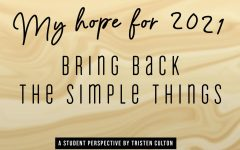 My hope for 2021 -- a student's perspective