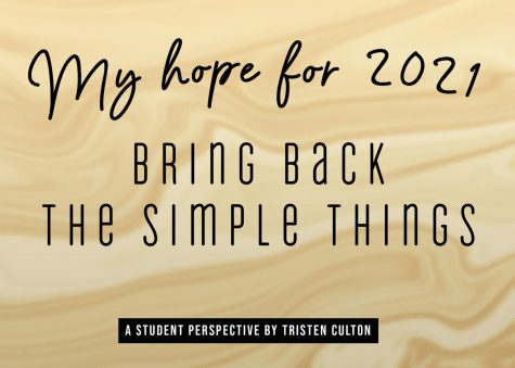 My hope for 2021 -- a student