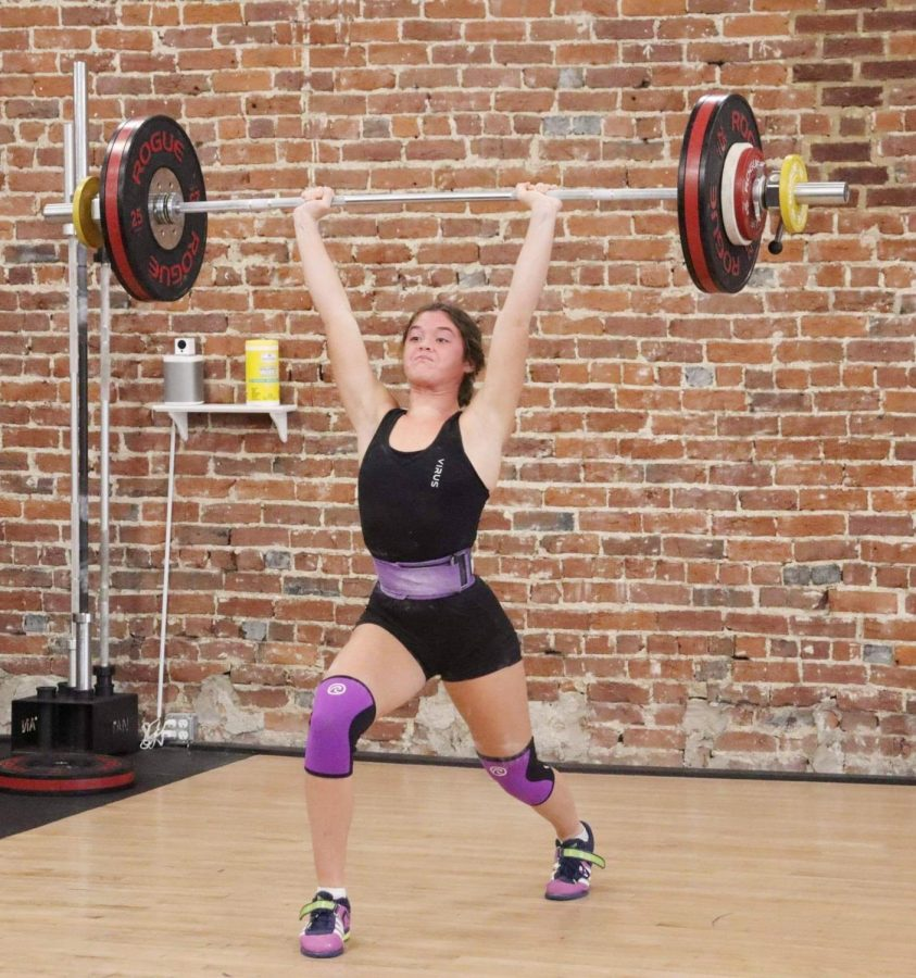 Riley+Williams+is+getting+attention+across+the+nation+in+youth+weightlifting+competitions.+She+will+complete+internationally+next+week.