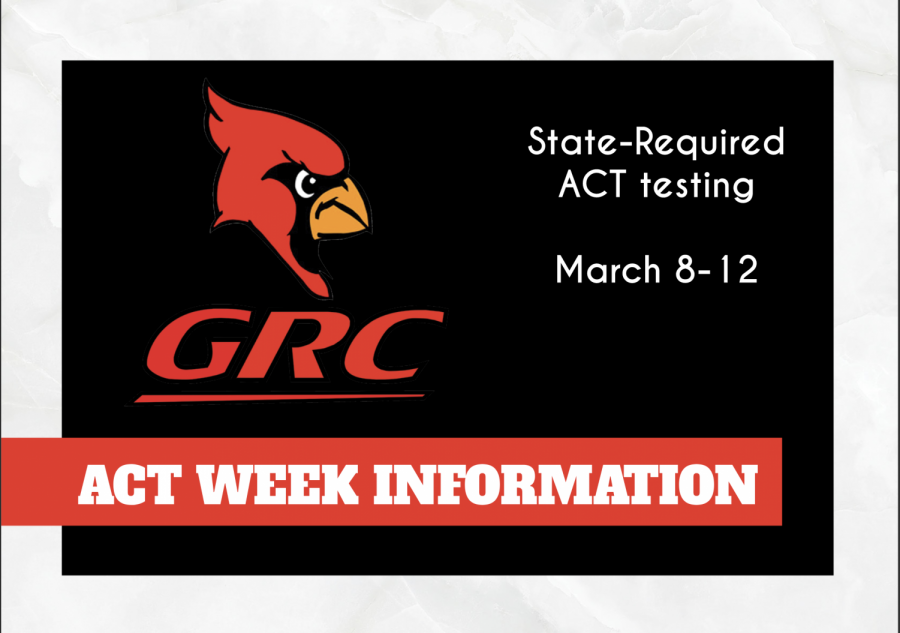 GRC announces schedule for ACT Week March 8-12