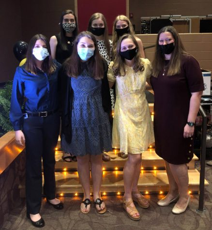 BETA Leadership Team, from left, Kaylee Felts, Maria Jackson, Sara Clark, Shelby Allman, Emma Reece, Carlyn Ross and Mrs. Mills