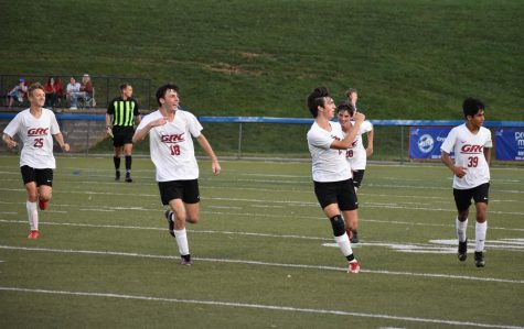 GRC celebrates a goal at Montgomery County.