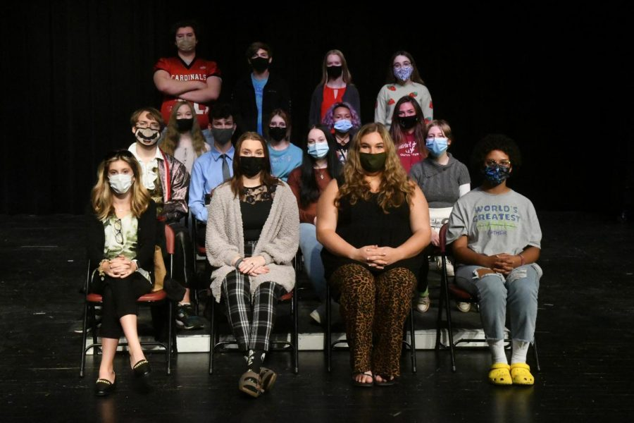 The cast of Appropriate Audience Behavior, which opens this week and will be performed in competition Oct. 16